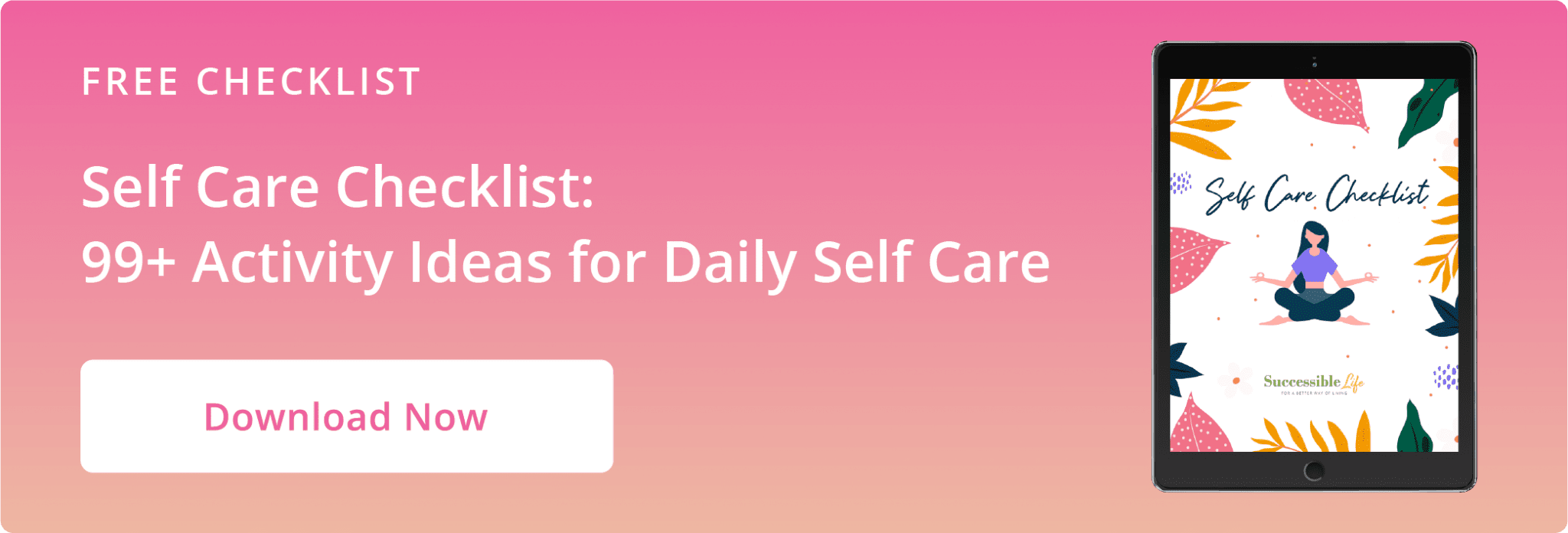 Article CTA Graphic - Self Care Checklist