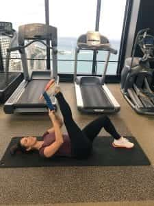Hamstring Stretch with Resistance Band 2