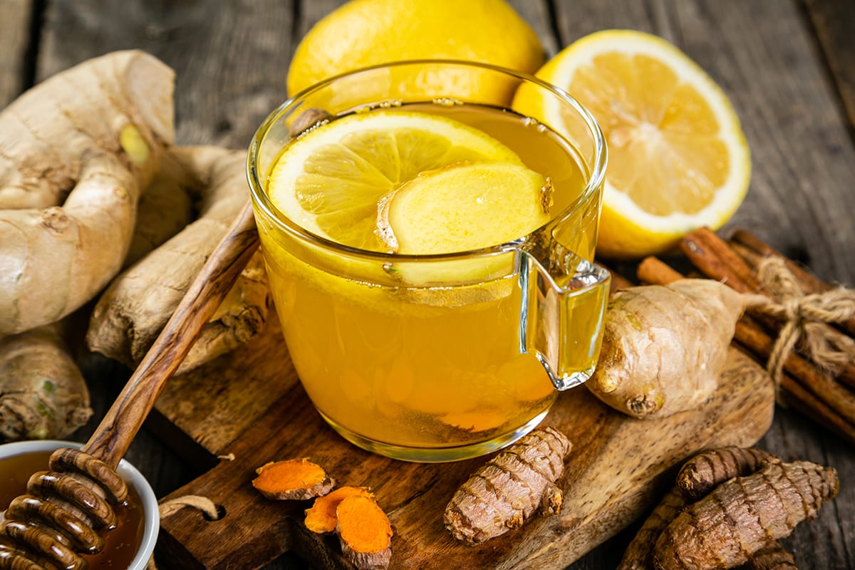 Lemon, Mint, and Turmeric Tea