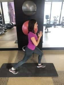 Stationary Lunge with Leg Lift 1