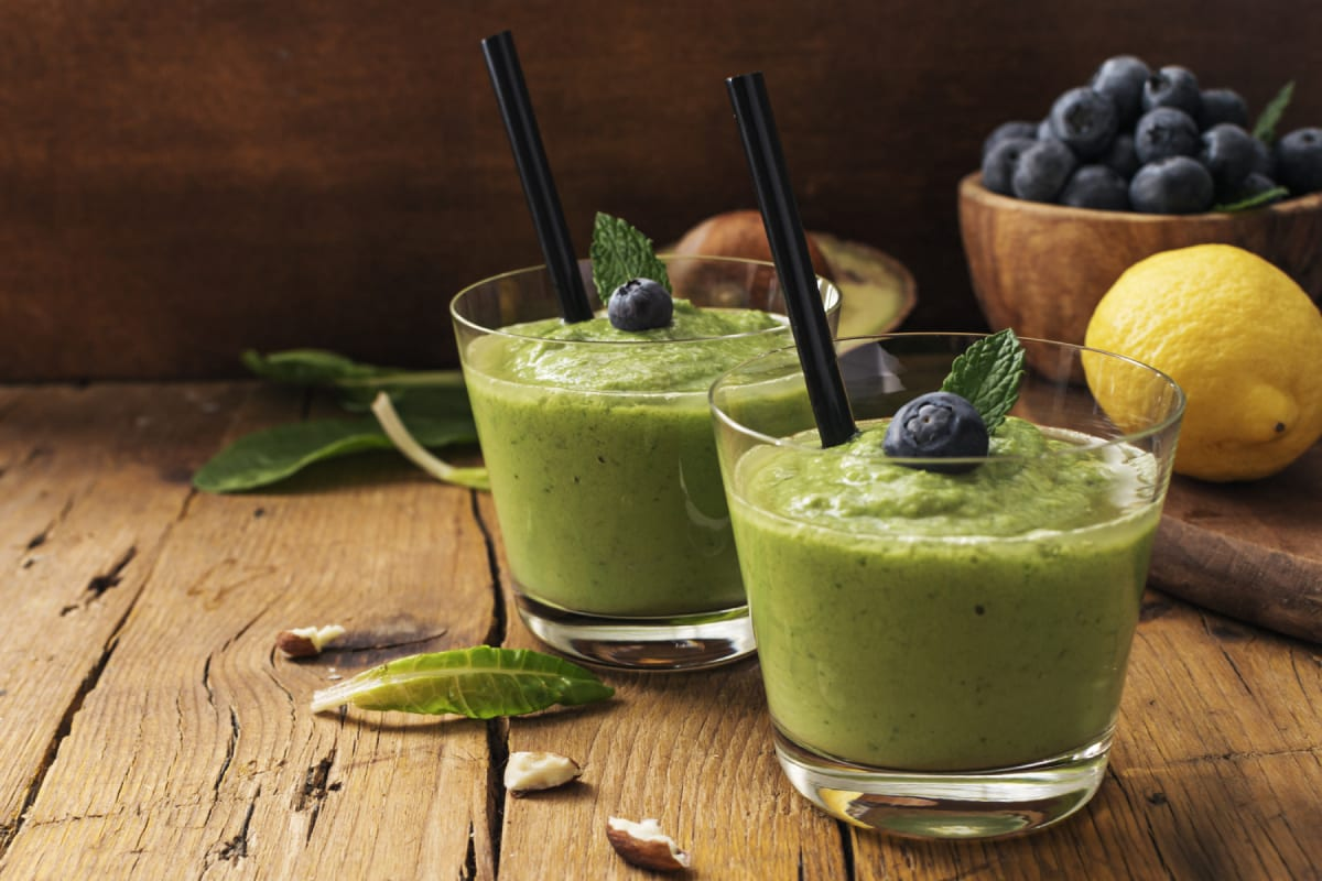 Blueberry Banana and Kale Smoothie