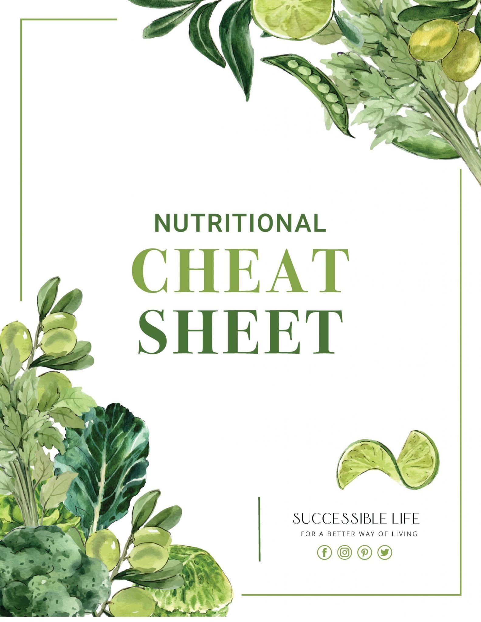 Nutritional Cheat Sheet Cover