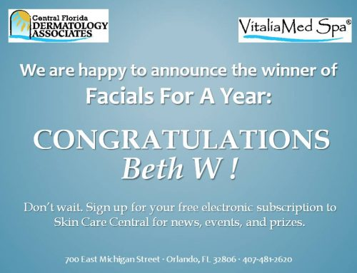 Winner of Facials For A Year!
