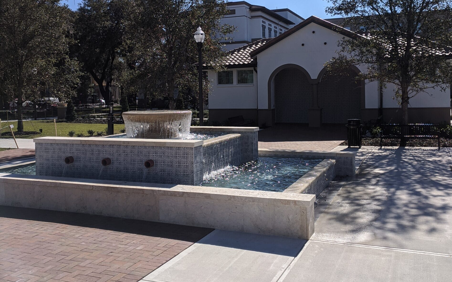 Fountain with Restroom